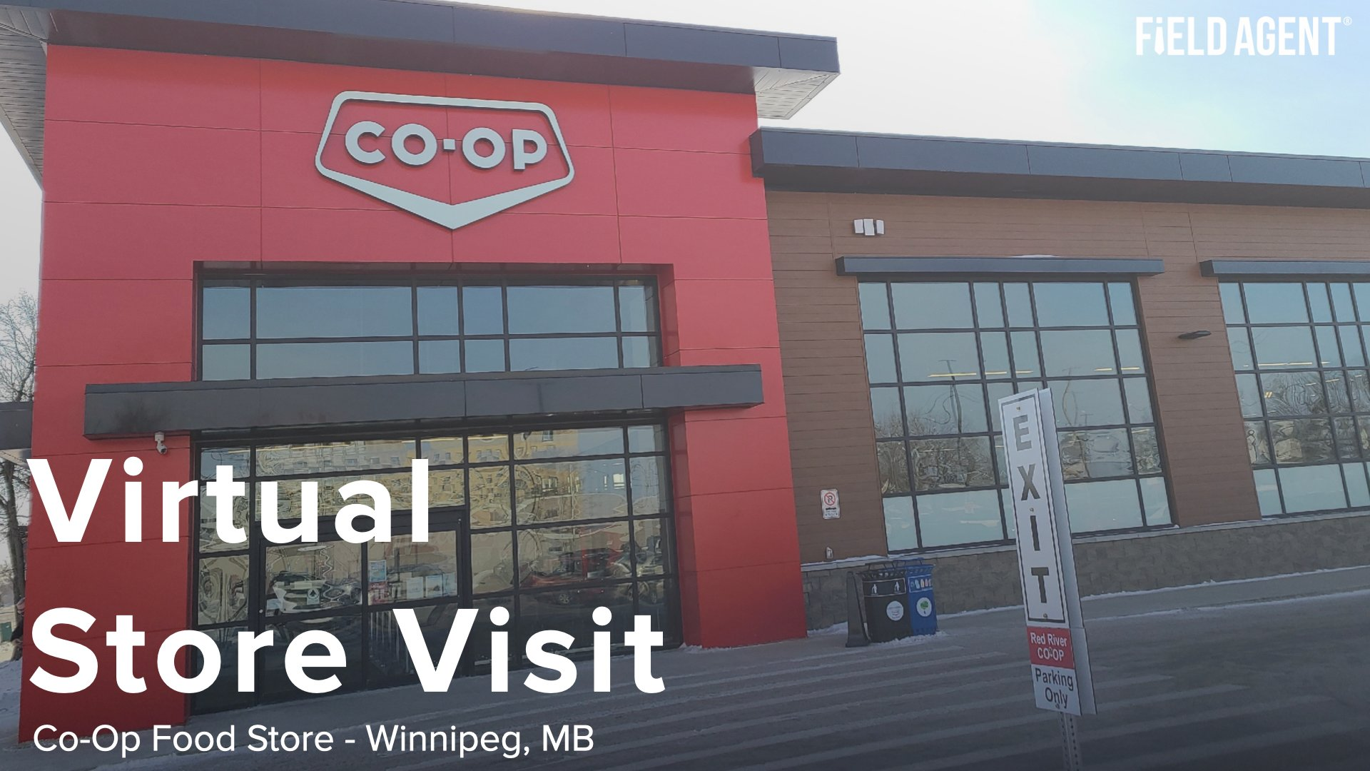 Front of building picture of Red River Co-Op in Winnipeg